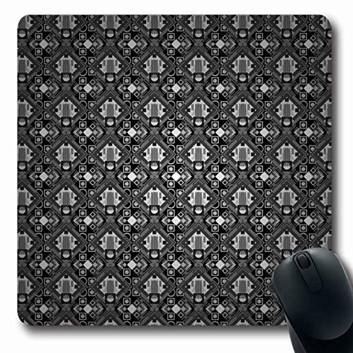 LifeCO Mouse Pad Lattice Gray Argyle Geometric Multicolored Abstract Dashed Black Classic Dash Diamond Design Stripe Oblong Shape 7.9 x 9.5 Inches Mousepad for Notebook Computer Mat Non-Slip -
