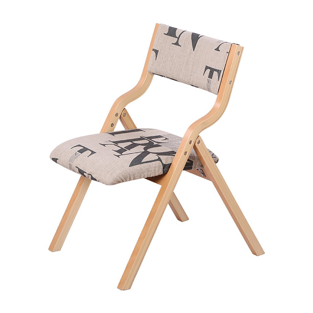 3  Chair Wooden Folding Chair Fabrics Household Dining Chair Office Backrest Chair Computer Chair Portable Lounge Chair (color   7 )