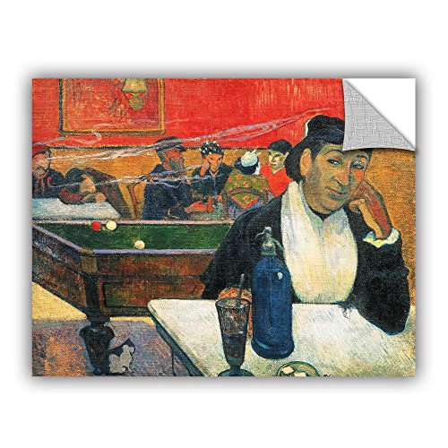 ArtWall Paul Gauguin's Cafe at Arles Art Appeelz Removable Graphic Wall Art, 36 x 48
