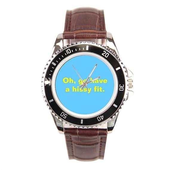 Ser un hombre muñeca reloj para hombre Temper Hissy Fit BSC muñeca relojes Marcas: Amazon.es: Relojes
