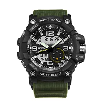 Là Vestmon Reloj Inteligente Fitness Sanda de Lujo Marca Hombres Deporte Digital LED Reloj G Militar