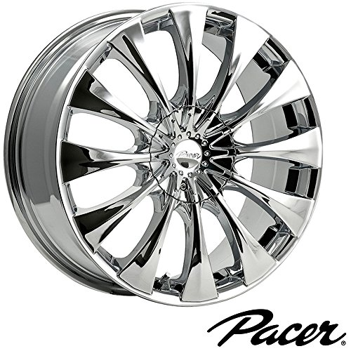 Pacer Silhouette 16×7.5 Chrome Wheel / Rim 5×110 & 5×115 with a 38mm Offset and a 73.00 Hub Bore. Partnumber 776C-6754338