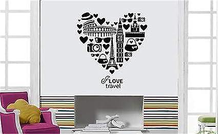 stickers muraux salle de bain zen Inspire Message I Love
