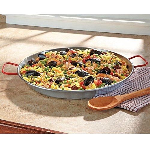 MageFesa Carbon Steel Paella Pan, 18 Inch