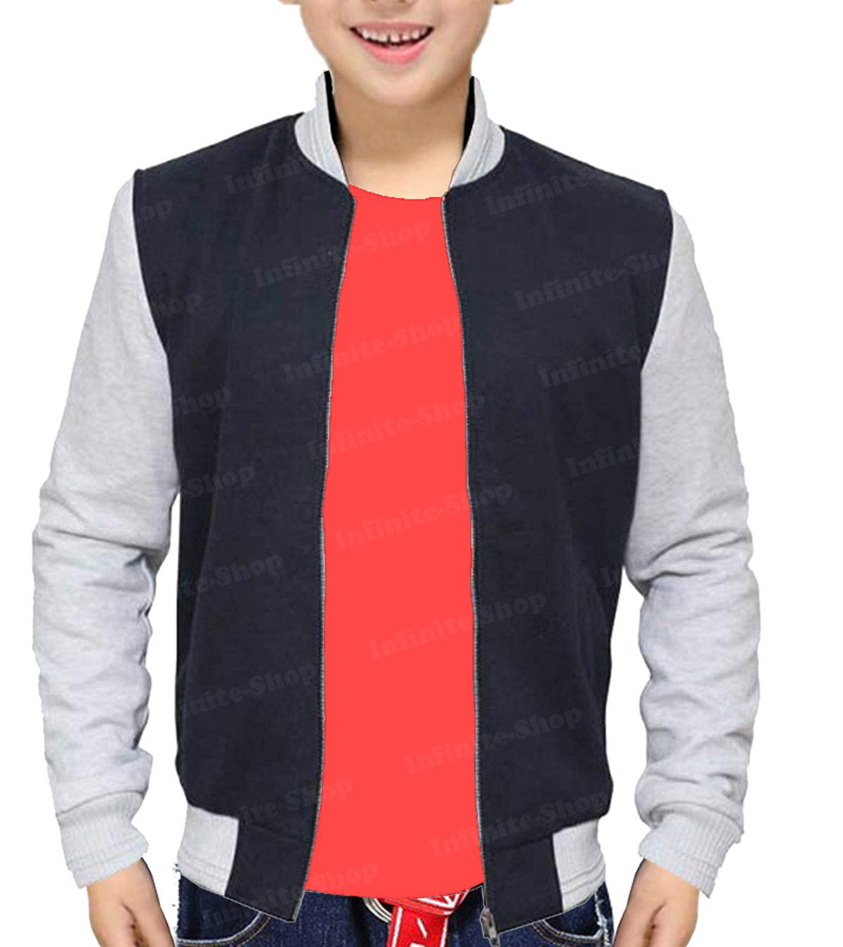 Baby Driver Jacket Ansel Elgort Baby Varsity Bomber Jacket for Kids by LeathersWear