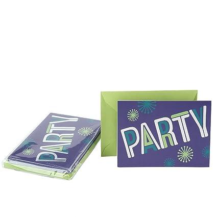 Hallmark Party Invitation Cards (Disco Design)