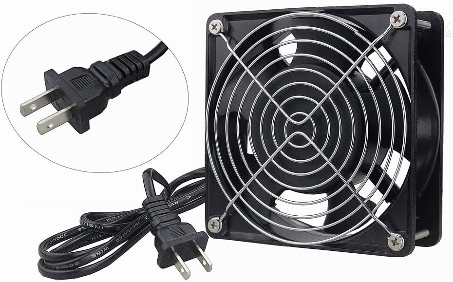 GDSTIME AXIAL Fan 12038, 110V 120V AC 120mm Fan, Ventilation Exhaust Projects Cooling Fan
