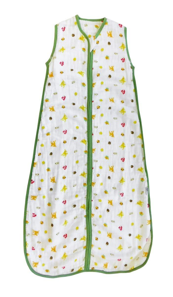 Schlummersack Schlafsack mit Füßen für den Sommer Baumwoll-Musselin Mint Eulen