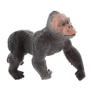 Baoblaze Lifelike Plastic Jungle Wildlife Animal Toy Realistically Detailed Figures - #8 Gorilla Ape