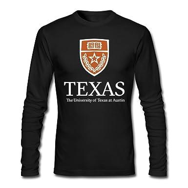 ffda2b6e063303 Amazon.com: Men's University Of Texas At Austin Logo Long Sleeve T-Shirt  Black: Clothing