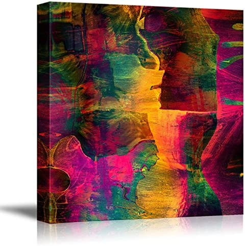Abstract Vibrant Grungy Color Vintage Retro Style Wall Decor