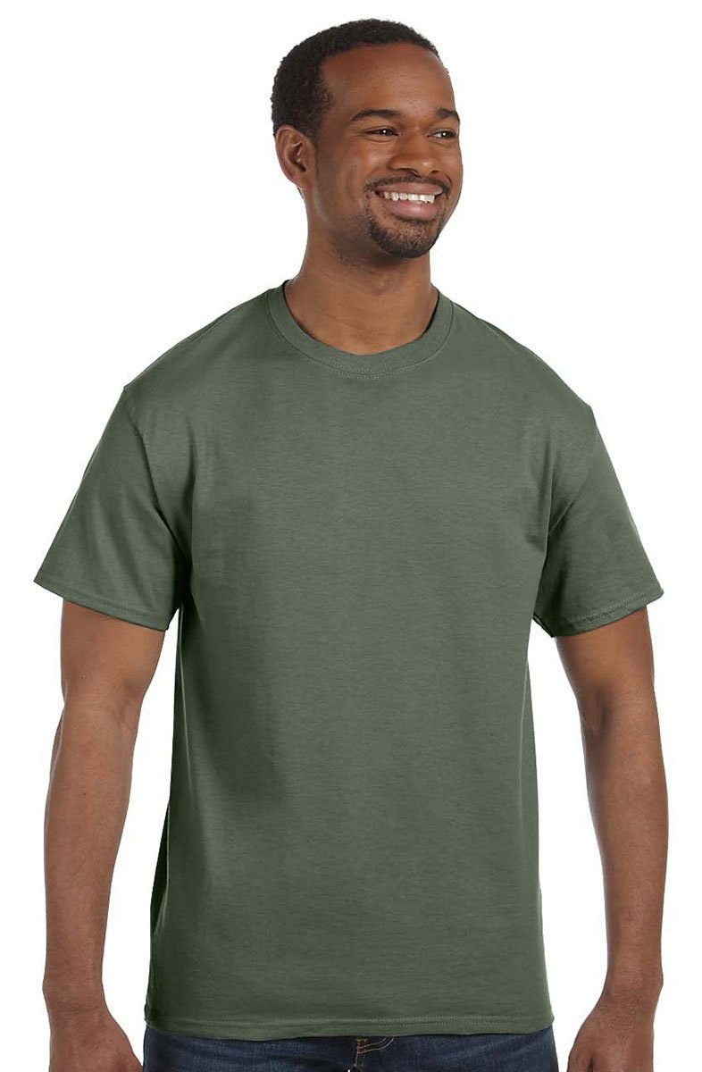Hanes Tagless – Camiseta Large|Verde (Fatigue Green) Venta de calzado deportivo de moda en línea