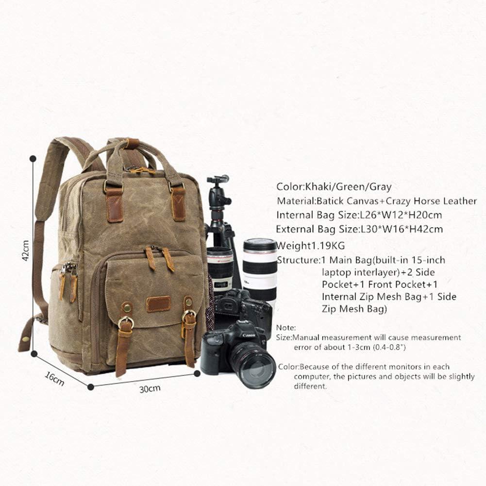 Professional Camera Lens Organizer with Handle Canvas Waterproof Anti-Shock Camera Bag MSQL Retro SLR DSLR Camera Backpack