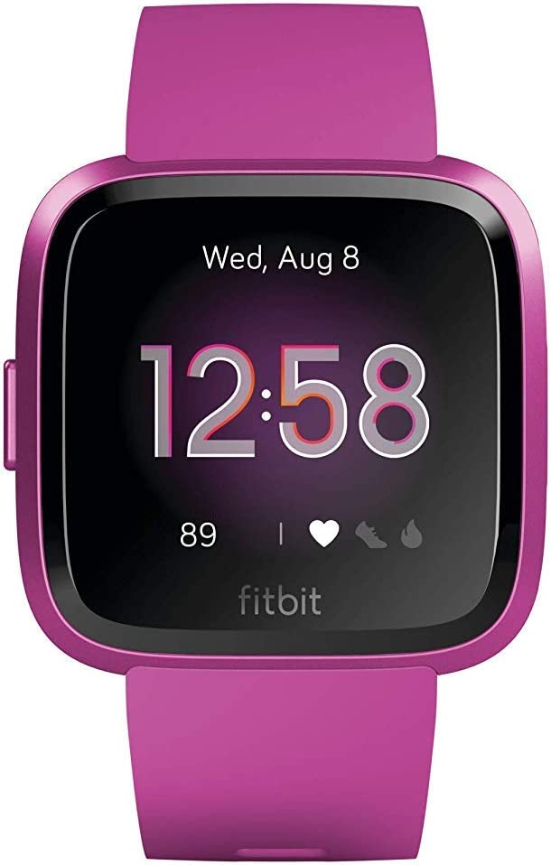 Fitbit Versa Lite - Reloj Deportivo Smartwatch, Adultos Unisex, Morera Aluminio, Talla única