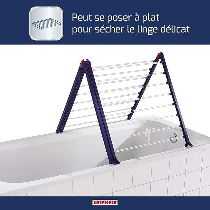Leifheit 81702 Baignoires Sèche-linge Pegasus Bath 190 Sèche-linge linge Support