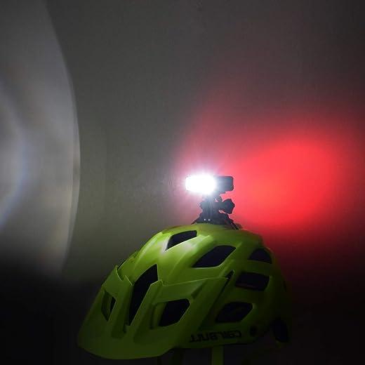 Fahrradhelm Licht, WASAGA 200 Lumen LED Fahrradhelm Licht 3 Modi USB wiederaufladbar wasserdicht Fahrrad Fahrrad Scheinwerfer und 5 Modi Fahrrad...