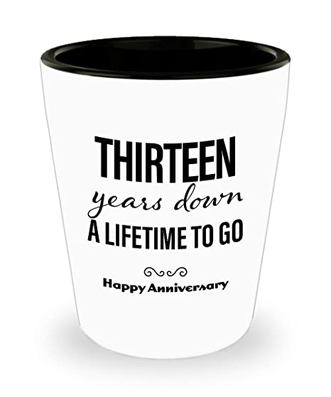 Amazoncom 13th Anniversary Gifts For Him Shot Glass