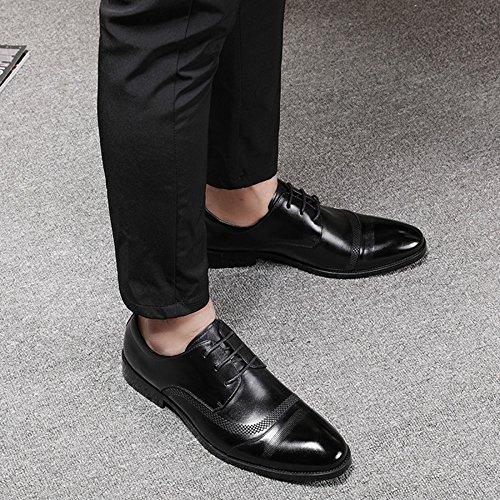 Zapatos Casuales De Cordones Con Negro Negocios Hombres Zapatos Casuales Zapatos Para Bajos MYXUA Clásica De Punta d5vqwznx54