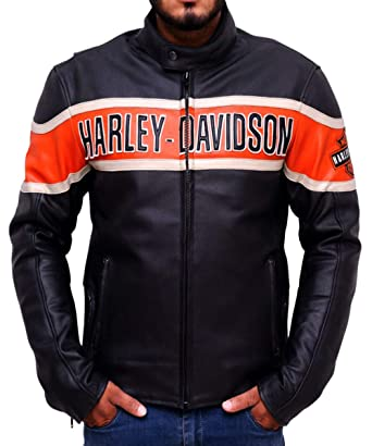 lo último c2162 9527d Chaqueta de Cuero para Hombre Harley Davidson- Chaqueta de Cuero