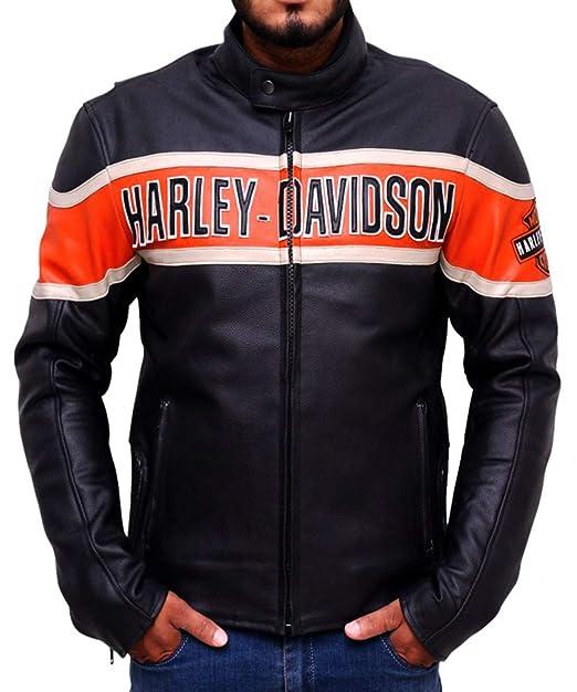 Chaqueta de Cuero para Hombre Harley Davidson- Chaqueta de Cuero: Amazon.es: Ropa y accesorios