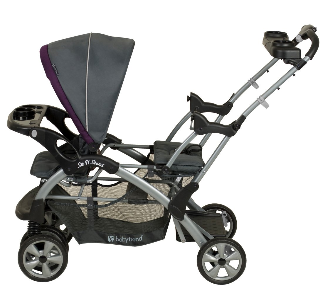 Amazoncom Baby Trend Sit N Stand Double Stroller Elixer Tandem