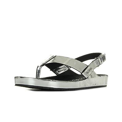 Calvin Klein Jeans Moselle Metallic Box Silver argent - Chaussures Sandale Femme