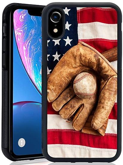more photos 929fd 7cd5c Amazon.com: Baseball iPhone XR ChyFS Phone Case Black Protective ...