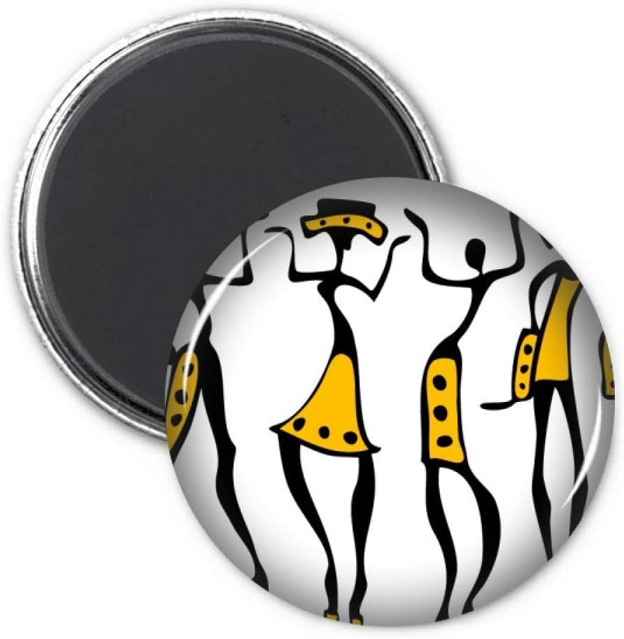Primitive Africa Aboriginal Black Totems Drawing Refrigerator Magnet Sticker Decoration Badge Gift