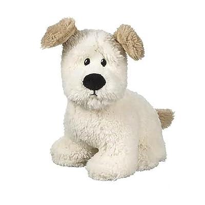 "Ralph the Dog 9"" White Plush Stuffed Animal by Ganz: Toys & Games"