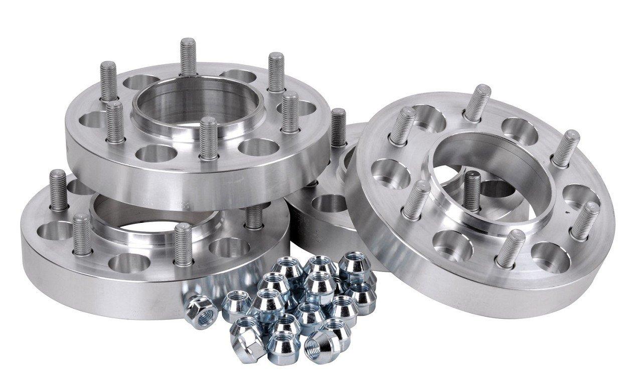 Hofmann Spurverbreiterung Aluminium 4 St/ück inkl 23//30 mm pro Scheibe // 46//60 mm pro Achse T/ÜV-Teilegutachten