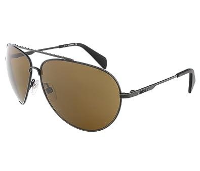 Diesel Lunettes de soleil 0095 - 02E  Dark Grey  Amazon.fr ... 16bd2740f944