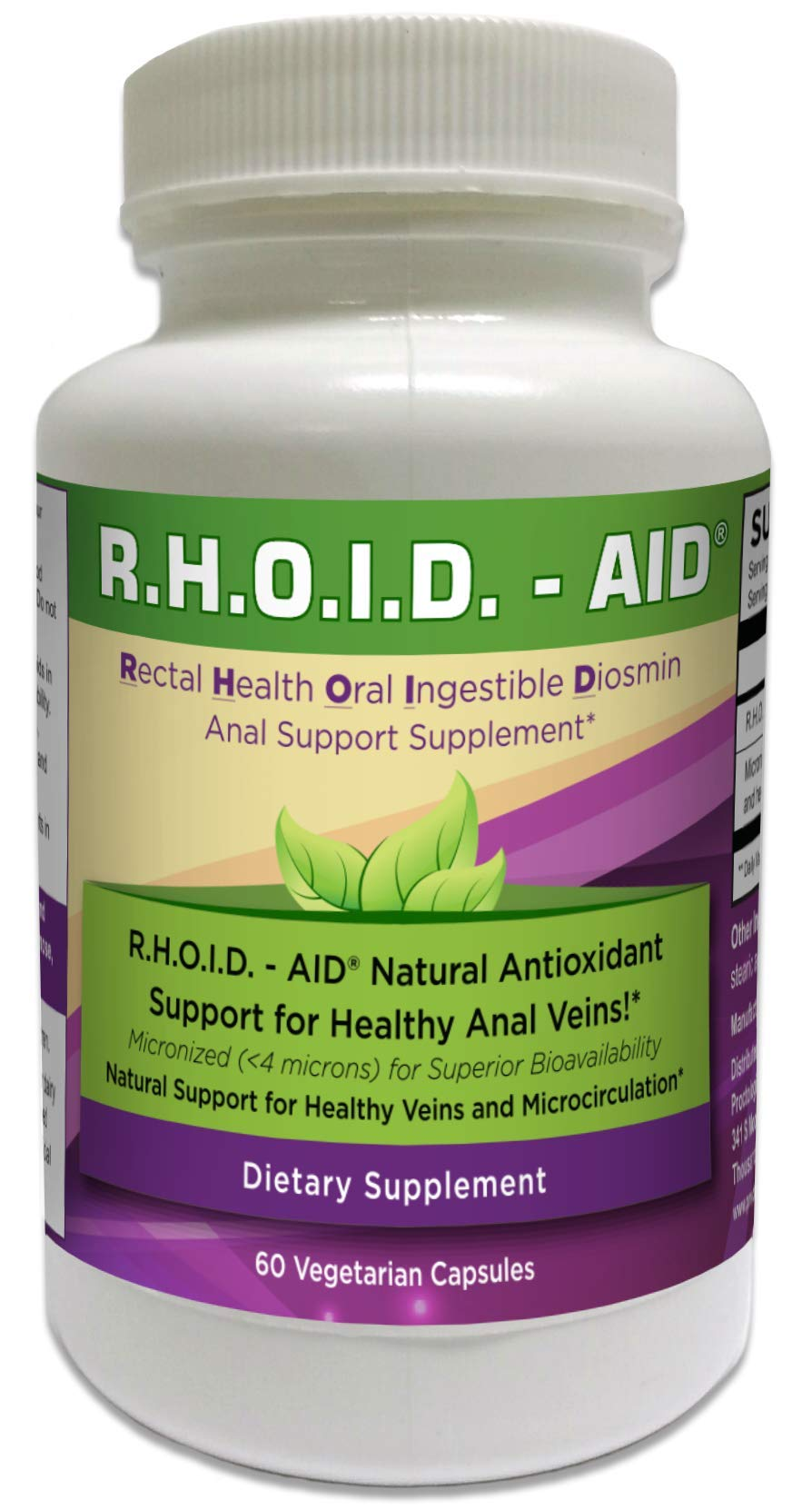 R.H.O.I.D. - AID | 100% Natural Hemorrhoid Treatment & Anal Support Supplement by ADI