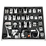 kenmore gathering foot - Professional Domestic 32 pcs Sewing Machine Presser Feet Set for Babylock, Singer, Janome, Brother, Elna, Toyota, New Home, Simplicity, Necchi, Kenmore, and White Low Shank Sewing Machines