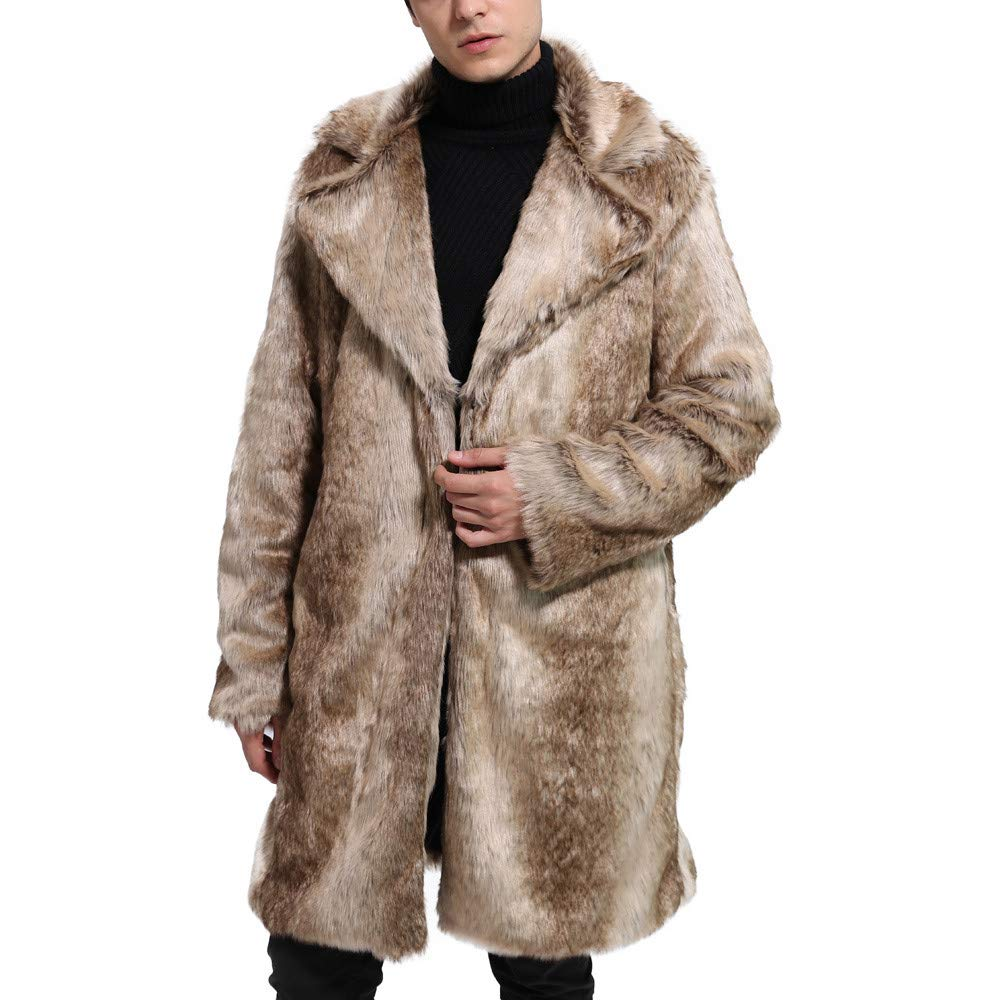 Amazon.com: VIASA Mens Winter Warm Fashion Thick Coat Overout Jacket Faux Fur Parka Outwear Cardigan: Clothing