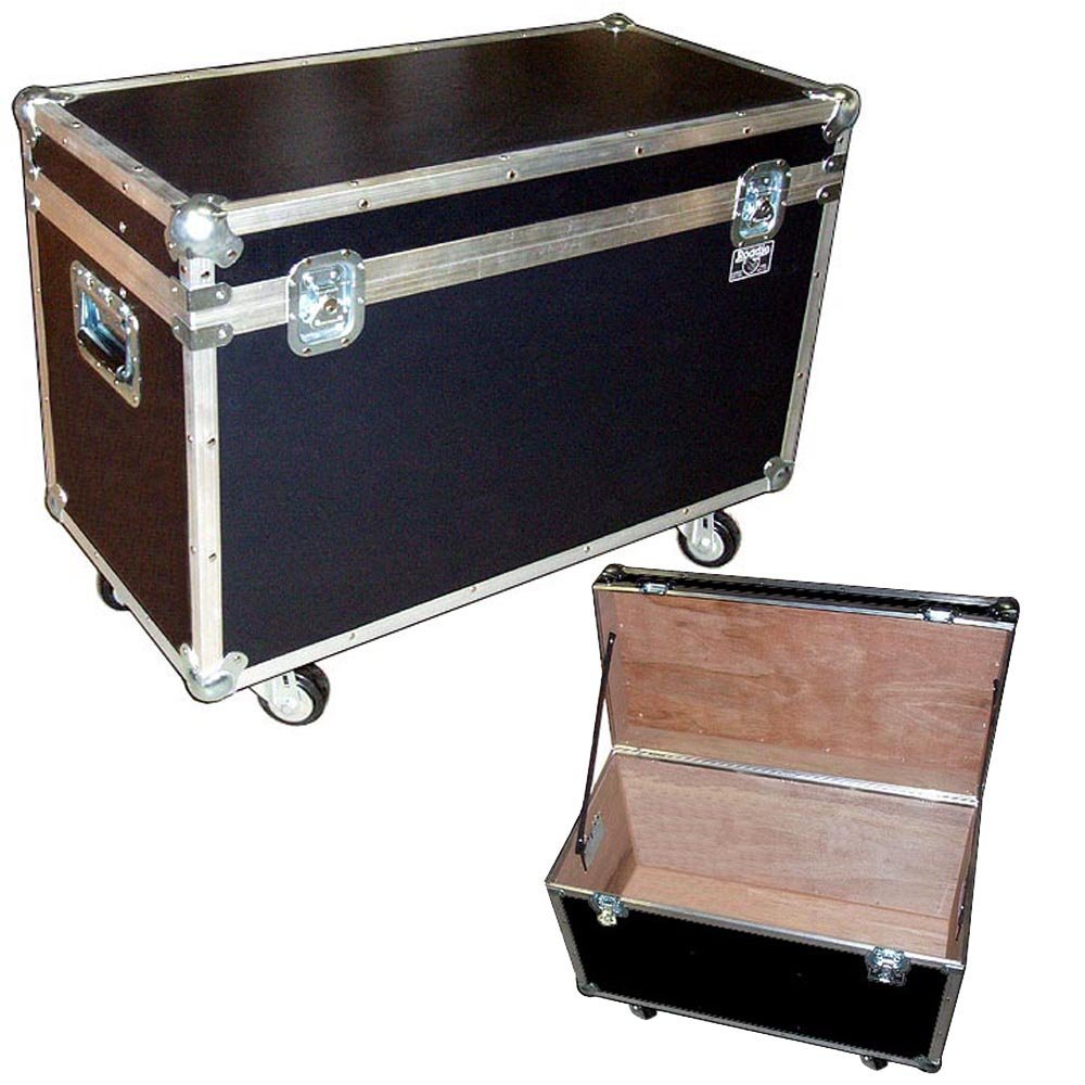 Trunk Case - 31 Inch 'Bully' - Utility and Supply ATA Case with Wheels - Medium Duty 1/4 Ply - Color Black