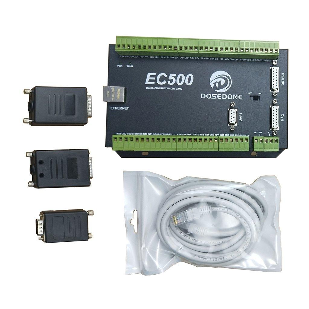 Dolity CNC制御カード 3軸 Mach3 Novusun イーサネットポート EC500 460KHz アダプタ ネットワークケーブル B07D3K427G