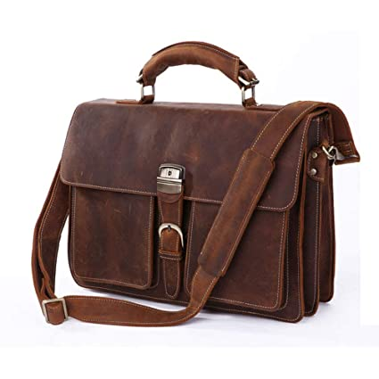 473a09aabc8e Amazon.com: Xiejuanjuan Laptop and Tablet Bag Mens Leather Travel ...