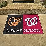 "Fan Mats 20403 MLB - Baltimore Orioles vs Washington Nationals 33.75"" x 42.5"" House Divided Mat"
