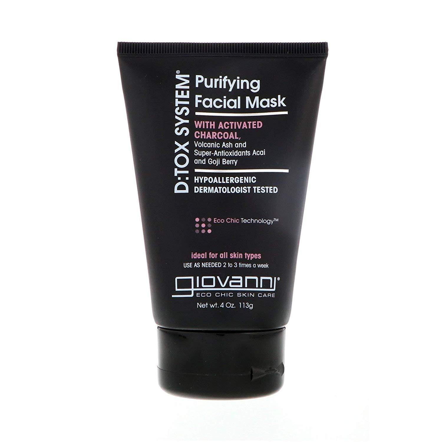 Amazon.com : Giovanni Purifying Facial Mask - Dermatologist Tested D:Tox  System 4 Ounce (Pack of 1) : Freeman Facial Mask : Beauty