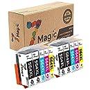 7Magic 10-Pack Compatible Ink Cartridge Replacement for 564XL 564 XL Use in Photosmart 5510 5520 6510 6520 7510 7520 7525 B8550 C6380 D5460 D7560 Officejet 4620 Deskjet 3520 (4BK, 2C, 2Y, 2M)