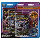 Pokemon Cards - BREAKthrough Blister - 3 Packs with Pins (Mega Lucario and Mega Charizard X & Y by Pokemon Cards