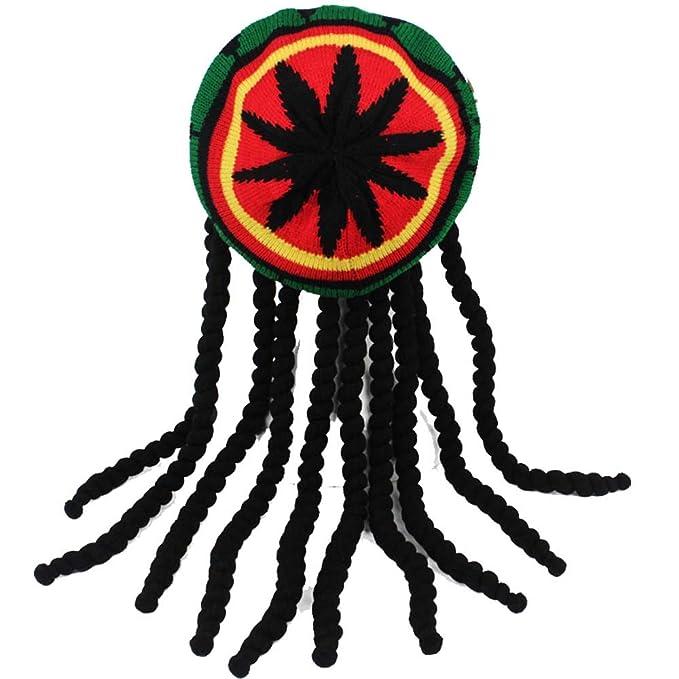 f2e4858d28acd YEKEYI Knitted Long Braid Hat African Dreadlocks Cap Beanie Funny Beard Cap   Amazon.ca  Clothing   Accessories