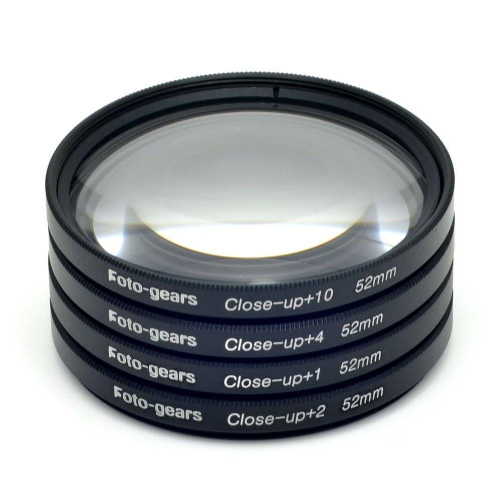 52mm Macro Filter Multi Close-up Lens Filter Macro Close up Lens +1 + 2 +4 +10 Kit by Foto-gears