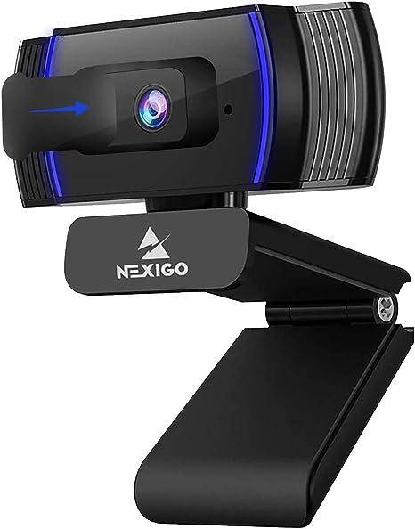 NexiGo AutoFocus 1080p Webcam with Stereo Microphone, Software Control and Privacy Cover, N930AF FHD USB Web Camera
