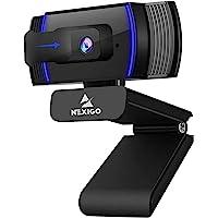 NexiGo AutoFocus 1080p Webcam with Stereo Microphone and Privacy Cover, N930AF FHD USB Web Camera, for Streaming Online…