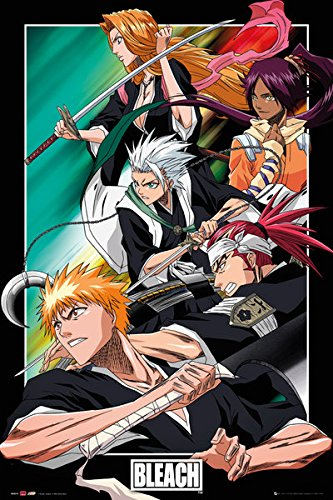 Bleach - Manga / Anime TV Show Poster / Print Character Collage / Group