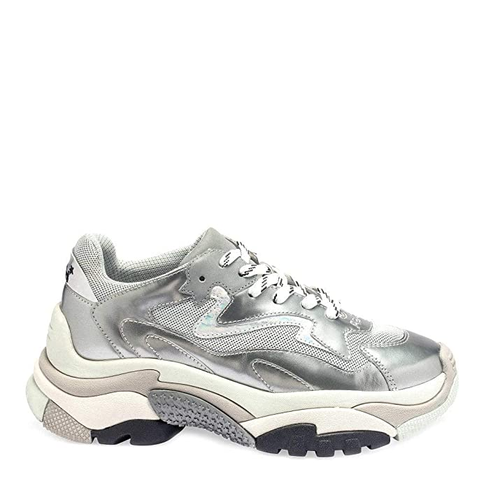 427b13a3a62 Ash Footwear Addict Silver   Grey Sneakers  Amazon.co.uk  Shoes   Bags