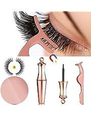 abe9b2c1196 MOGOI False Eyelashes Kit With Magnetic False Eyelashes, Magnetic Eyeliner  And Eyelashes Tweezers, No