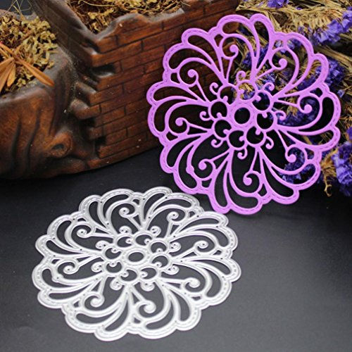 Staron Metal Cutting Dies Stencil Flower Hearts Happy Birthday Cut Die Template Mould for DIY Scrapbook Embossing Album Paper Card Craft Cutting Dies for Card Making J