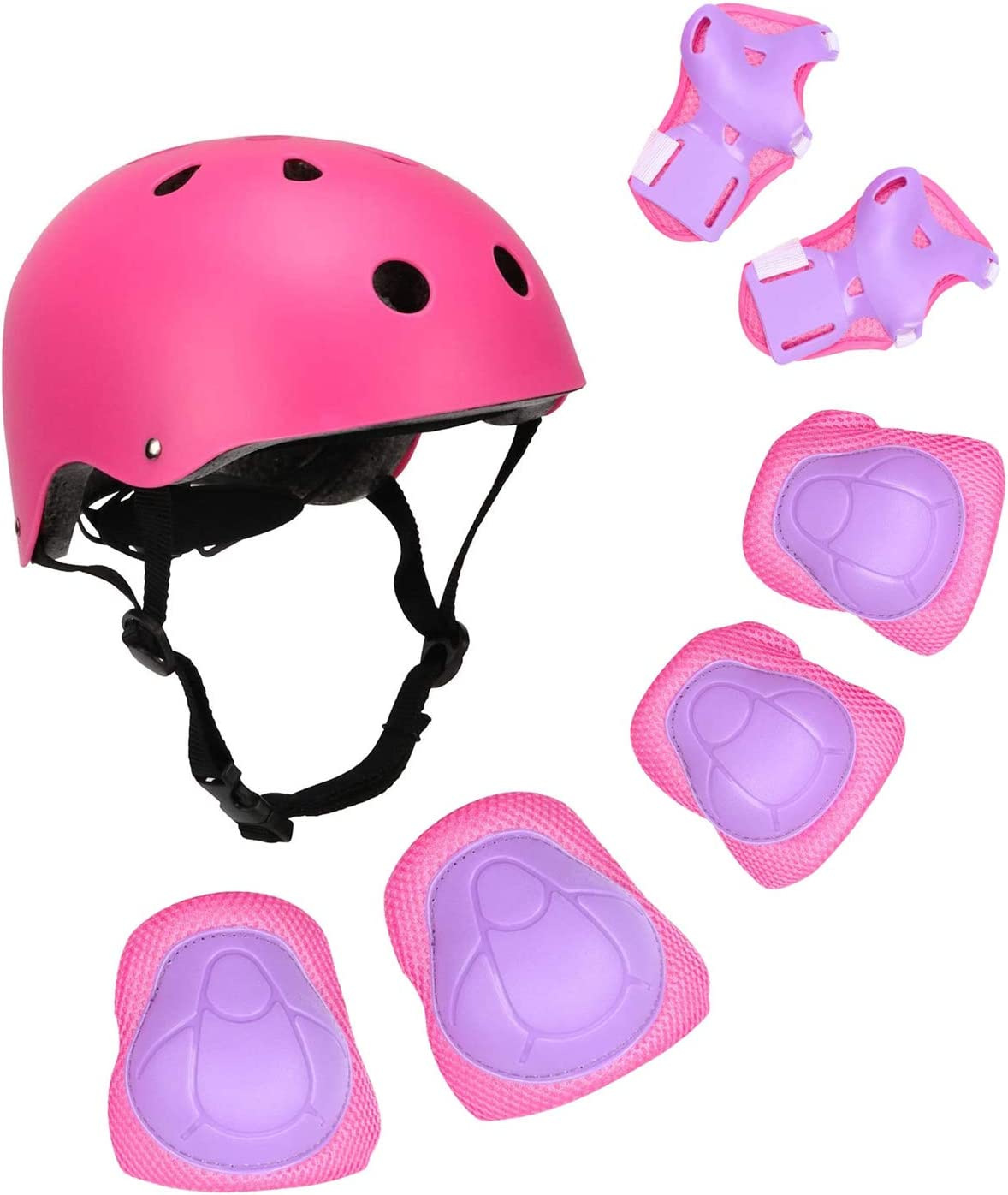 Cycling Wrist Guards Toddler for Multi-Sports Outdoor Scooter Sports BOSONER Kids Bike Helmet Pad Set Elbow Knee Wrist Pads Protective Gear Set for Skateboard Medium, 6-15 Years Roller Skating